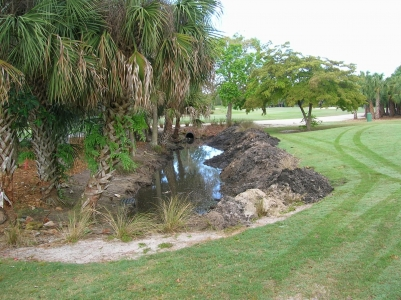Completed drainage project