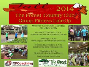 Fall 2014 Forest Fitness Line Up