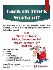 Back on Track Flyer Ready