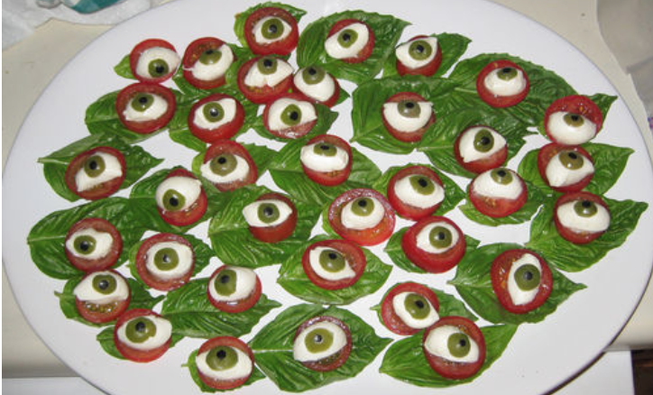 Eyeball Caprese Appetizer