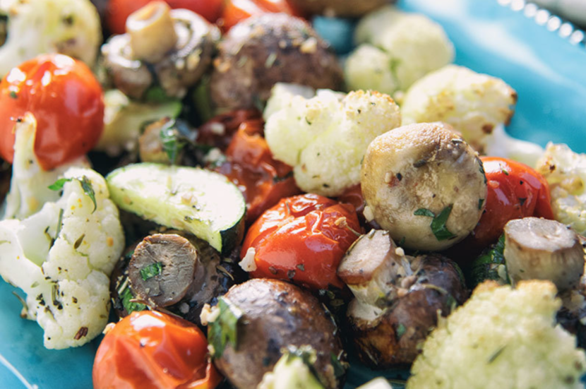 Paleo diet roasted vegetable medley