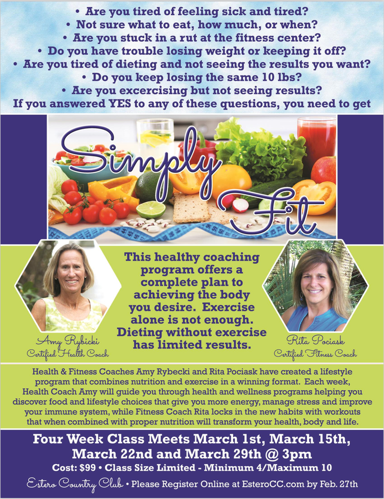 Simply Fit Healthy Eating Fitness Class