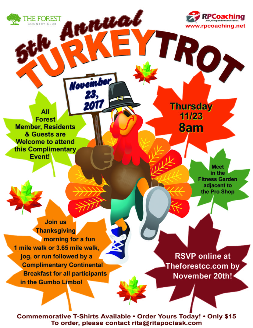 5th Annual Turkey Trot Poster at The Forest Country Club
