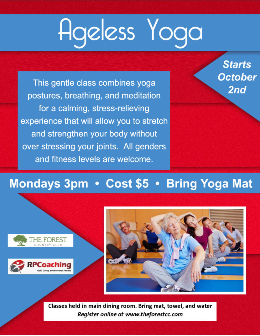 Ageless Yoga Flyer - The Forest Country Club