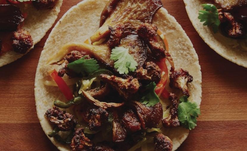 Cauliflower & Oyster Mushroom Tacos Healthy Vegan Recipe