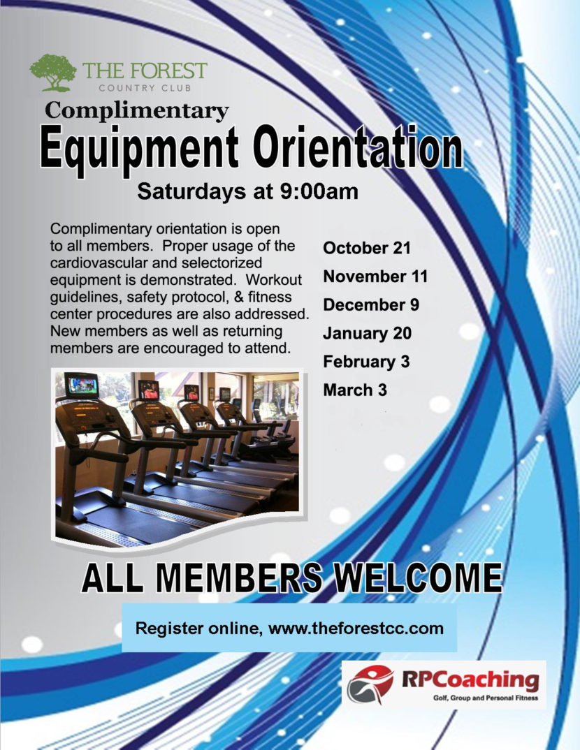The Forest Country Club Fitness Center Equipment Orientation