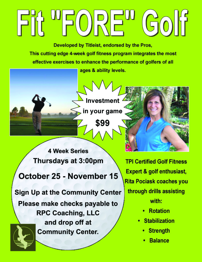 Fit Fore Golf - Pelican Landing - Fall 2018