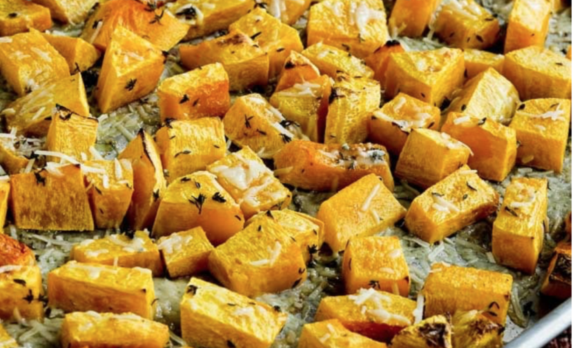 Healthy recipe, good food, butternut squash